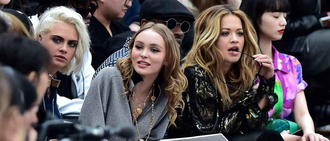 Cara Delevingne, Lily Rose Depp, Rita Ora Sit Front Row At Paris Fashion Week