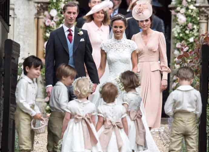 Pippa middleton wedding dress kate 39 s sister marries james for Kate middleton wedding pippa dress