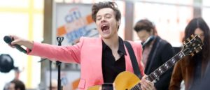 Harry Styles performing live on NBC's Today show in New York City