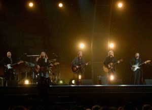 Musicians Bernie Leadon, Timothy B. Schmit, Jackson Browne, Joe Walsh and Steuart Smith, honoring Eagles founder Glenn Frey, perform onstage during The 58th GRAMMY Awards at Staples Center on February 15, 2016 in Los Angeles (Image: Getty)