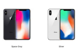 iPhone X in Space Gray and Silver (Image: Apple)