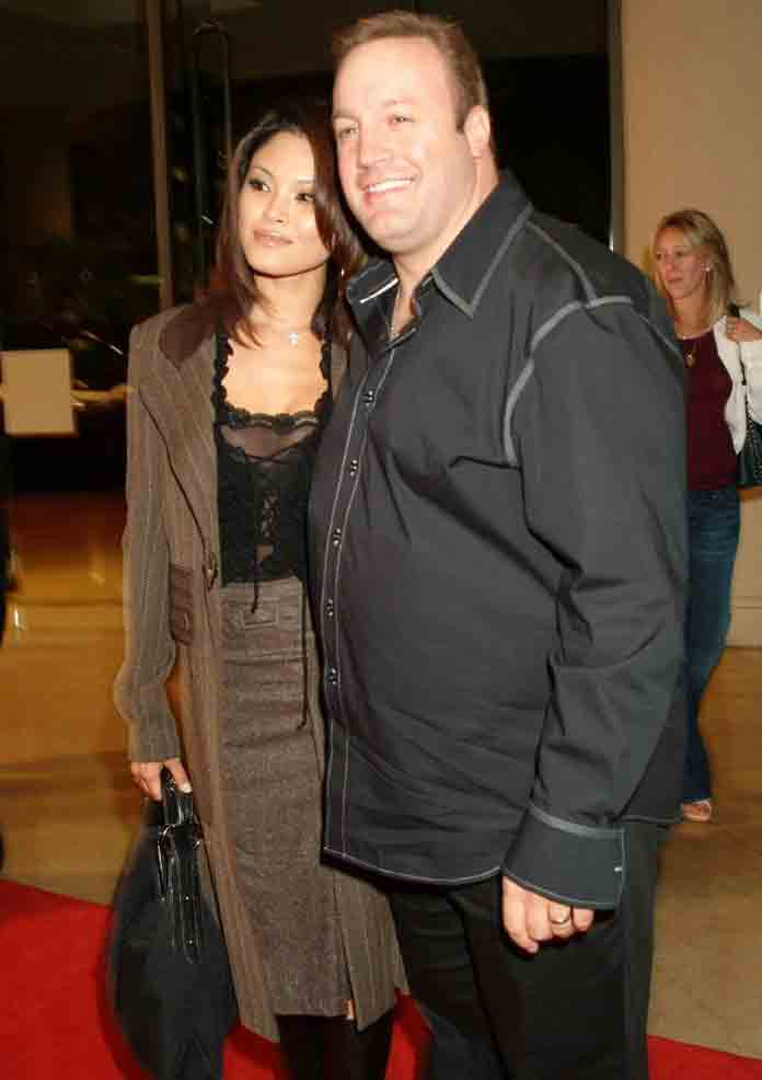 Kevin James and his wife Steffiana de la Cruz (2004)