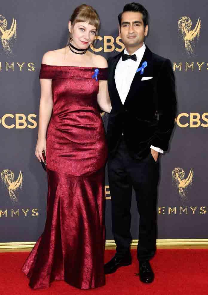 Kumail Nanjiani and his wife Emily Gordon (2017)