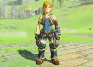 Link's Rex costume in The Legend of Zelda: Breath of the Wild