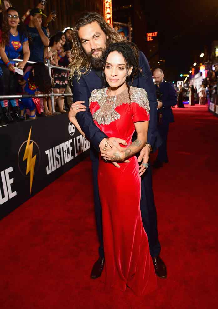 Jason Momoa & Lisa Bonet On Red Carpet For First Time As Married Couple