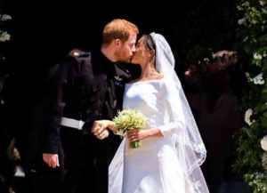 Meghan Markle Glows In Givenchy Wedding Dress By Clare Waight Keller (Image: Getty)