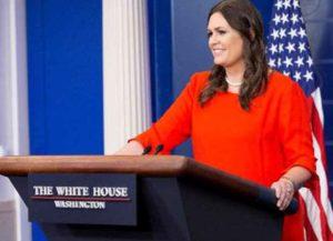 Former White House Press Sarah Huckabee Sanders