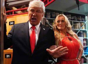 Stormy Daniels Tells 'Donald Trump' To Resign In 'Saturday Night Live' Sketch