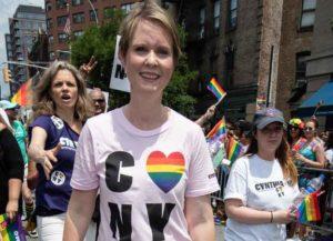 Cynthia Nixon & Wife Christine Marinoni March In NYC Gay Pride Parade