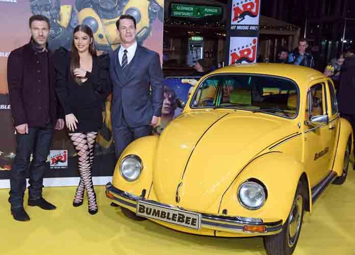 Caption : 'Bumblebee' fan screening at CineStar IMAX Sony Center. PersonInImage : Travis Knight,Hailee Steinfeld,John Cena Credit : WENN.com