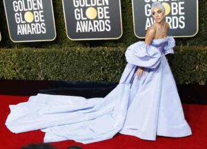 Lady Gaga attends 76th Golden Globe Awards Arrivals at the Beverly Hilton Hotel in Beverly Hills.