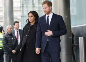 Very Pregnant Meghan Markle & Prince Harry Visit New Zealand House In London To Pay Condolences (Photo: Getty)