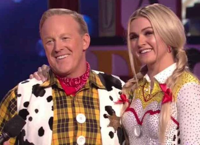 Sean Spicer Dresses As Toy Story's Woody For 'DWTS' Disney Night, Trump Tweets His Support