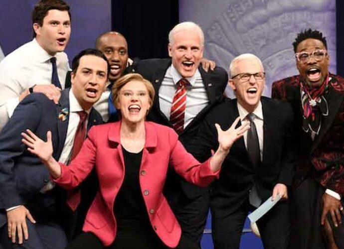 'SNL' Cold Open Spoofs CNN's LGBT Townhall With Billy Porter, Lin-Manuel Miranda and Woody Harrelson