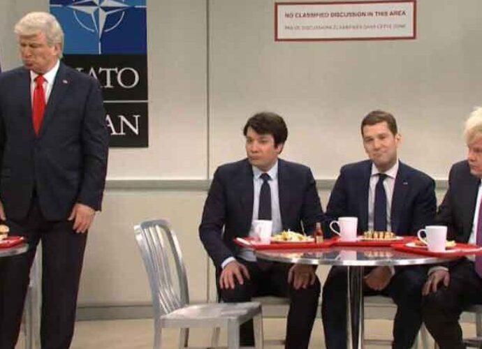 WATCH: 'SNL' Cast Pokes Fun At NATO Leaders Mocking Donald Trump [Video]