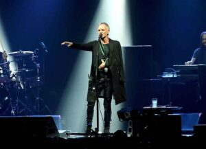 Sting Performs Live With His Arm In A Sling After Injury In Italy (Image: Getty)