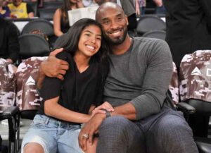 OS ANGELES, CALIFORNIA - NOVEMBER 17: Kobe Bryant and his daughter Gianna Bryant attend a basketball game between the Los Angeles Lakers and the Atlanta Hawks at Staples Center on November 17, 2019 in Los Angeles, California (Image: Getty)
