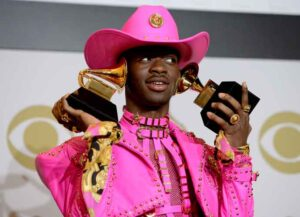 """LOS ANGELES, CALIFORNIA - JANUARY 26: Lil Nas X, winner of Best Music Video and Best Pop Duo/Group Performance for """"Old Town Road (feat. Billy Ray Cyrus)"""" and Album of the Year for his EP, 7 poses in the press room during the 62nd Annual GRAMMY Awards at Staples Center on January 26, 2020 in Los Angeles, California. (Image: Getty)"""