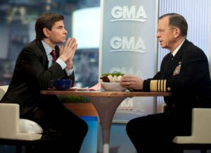 Chairman of the Joint Chiefs of Staff Adm. Mike Mullen interviewed by 'GMA's George Stephanopoulos