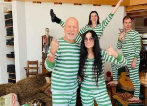 Bruce Willis Isolates With Ex Wife Demi Moore & Kids Without Wife Emma Heming (Photo: Instagram)