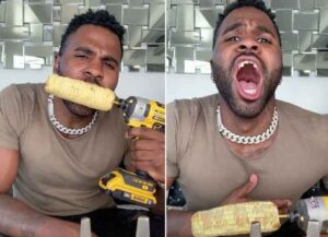 Did Jason Derulo Really Chip His Teeth From Eating Corn Off A Power Drill In Viral TikTok Video?