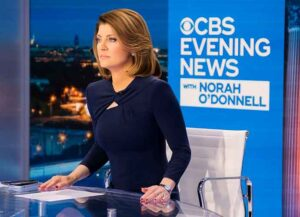 Norah O'Donnell At 'CBS News' anchor chair