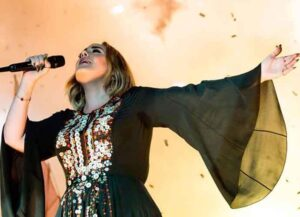 Adele Shows Off Huge Weight Loss Transformation On Instagram Modeling Glastonbury Dress (Image: Getty)