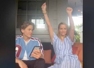 """WATCH: Reese Witherspoon Announces Son Deacon Phillippe's First Single """"Long Run"""""""