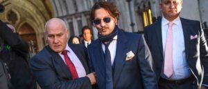 LONDON, ENGLAND - FEBRUARY 26: Johnny Depp is seen leaving the Royal Courts of Justice on February 26, 2020 in London, England. The Hollywood actor is suing The Sun newspaper over claims he beat up his ex-wife Amber Heard.