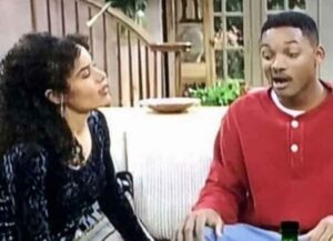 Galyn Gorg with Will Smith in 'Fresh Prince of Bel-Air'