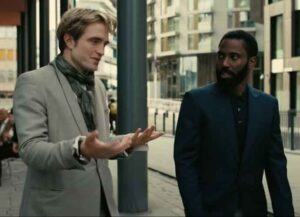 Tenet stars John David Washington and Robert Pattinson.