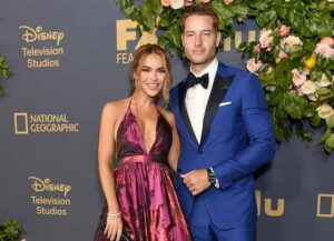 LOS ANGELES, CA - SEPTEMBER 22: Justin Hartley and Chrishell Stause arrive at the Walt Disney Television Emmy Party on September 22, 2019 in Los Angeles, California.