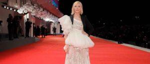 "VENICE, ITALY - SEPTEMBER 09: Jury President Cate Blanchett walks the red carpet ahead of the movie ""Spy No Tsuma"" (Wife Of A Spy) at the 77th Venice Film Festival on September 09, 2020 in Venice, Italy."