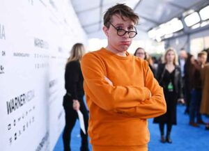 NEW YORK, NEW YORK - MAY 15: James Veitch of TBS's CONAN attends the WarnerMedia Upfront 2019 arrivals on the red carpet at The Theater at Madison Square Garden on May 15, 2019 in New York City
