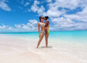 Khloe Kardashian Posts Adorable Mother-Daughter Photos With True On Turks & Caicos Beach
