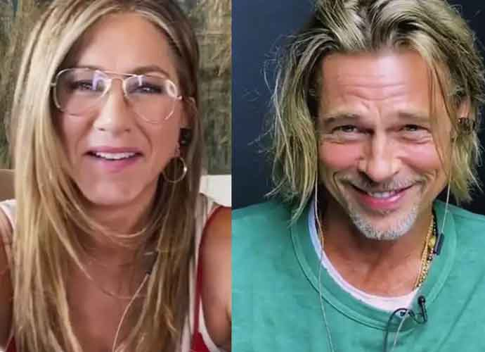 WATCH: Exes Brad Pitt & Jennifer Aniston Get Flirty During 'Fast Times At Ridgemont High' Reading