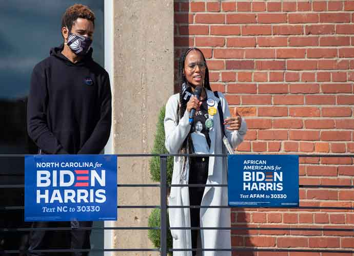 Kerry Washington & Husband Nnamdi Asomugha Campaign For Joe Biden In North Carolina