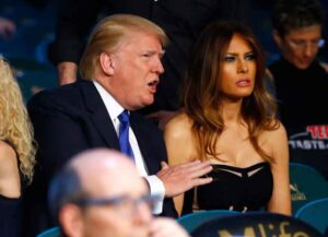 LAS VEGAS, NV - MAY 02: Donald J. Trump, Chairman & President, The Trump Organization, and his wife Melania Trump watch Vasyl Lomachenko take on Gamalier Rodriguez in their WBO featherweight championship bout on May 2, 2015 at MGM Grand Garden Arena in Las Vegas, Nevada. (Image: Getty)