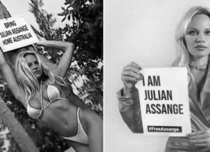 Bikini-Clad Pamela Anderson Petitions Donald Trump To Pardon Julian Assange