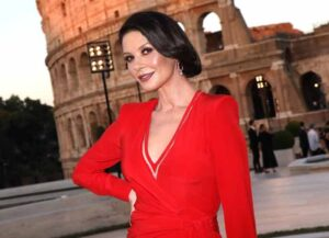 ROME, ITALY - JULY 04: Catherine Zeta Jones attends the Cocktail at Fendi Couture Fall Winter 2019/2020 on July 04, 2019 in Rome, Italy.