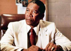 Morgan Freeman as Joe Clark in 'Lean On Me'