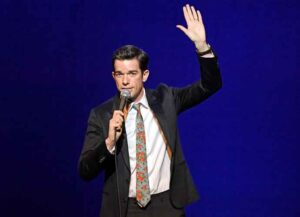NEW YORK, NEW YORK - JANUARY 14: John Mulaney performs onstage during Gaffigan, Mulaney & Birbiglia Stand Up for Georgetown at Brooklyn Academy of Music on January 14, 2019 in New York City.
