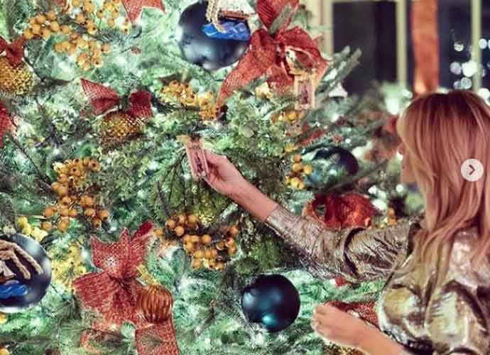 After Saying 'F—' Christmas, First Lady Melania Trump Decorates White House Christmas Tree