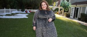 """UNIVERSAL CITY, CALIFORNIA - DECEMBER 12: Actress Chrissy Metz visits Hallmark Channel's """"Home & Family"""" at Universal Studios Hollywood on December 12, 2020 in Universal City, California."""