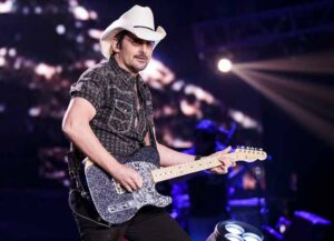 ABBOTSFORD, BRITISH COLUMBIA - MARCH 07: Singer-songwriter Brad Paisley performs on stage at Abbotsford Centre on March 07, 2020 in Abbotsford, Canada. (Photo by Andrew Chin/Getty Images)