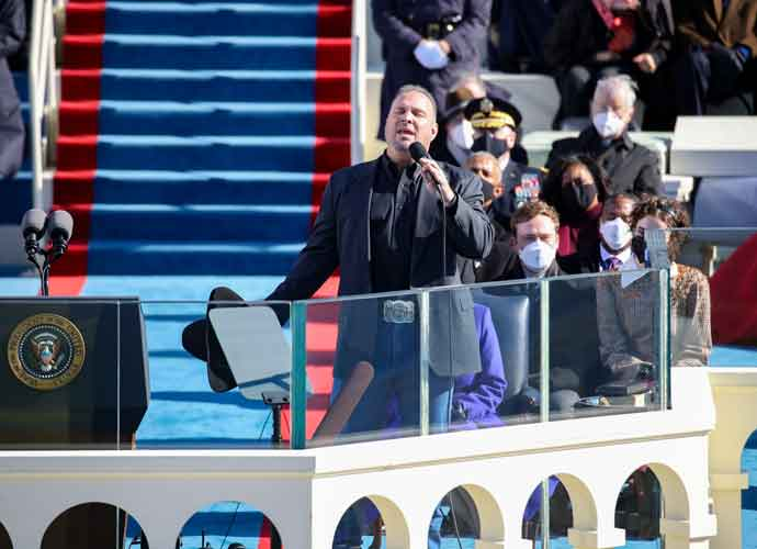 "WATCH: Garth Brooks Performs ""Amazing Grace"" At Biden Inauguration"