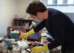 Jimmy Fallon Cleans Out MSNBC Journalist Steve Kornacki's office (Photo: YouTube)