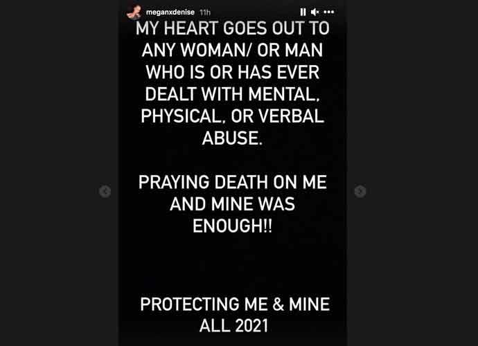 Megan Denise's Instagram story on Von Miller (Photo: Instagram)