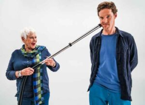 LONDON - OCTOBER 16: Benedict Cumberbatch and Dame Judi Dench star in the Red Nose Day 2021, Funny is Power campaign film, What is it to be Human? on October 16,2020 in London,England. Red Nose Day takes place on March 19th 2021. (Photo by Jacqui Black/Comic Relief/Getty Images)