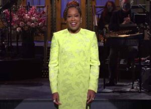 Regina King Brings The Laughs As Host Of 'Saturday Night Live' (Image: NBC)